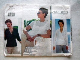 Uncut Vogue 2308 Sewing Pattern, Misses' Blouse & Top, Anne Klein, Size ... - $6.85