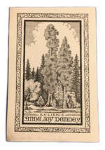 Ex Libris Exlibris Bookplate Anna Joy Dannay Redwoods CA Poppies - $29.69