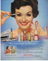 1959 AVON Cosmetics Look of Glamour Print Ad - $9.99