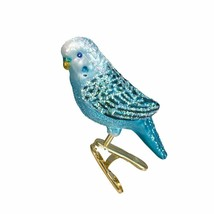 Old World Christmas Miniature Parakeet CLIP-ON Glass Xmas Ornament 18049 Style 2 - $8.88