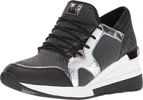 Michael Kors MK Women's Scout Fabric Sneakers Shoes (10, Gunmetal)