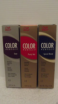 Wella Color Perfecto Toners Coloración de Cabello Crema Gel ~ 59ml ~ Com... - $5.02