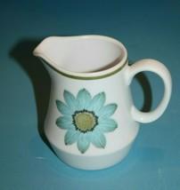 "Noritake Up Sa Daisy Progression China Cream Pitcher 3.75"" Blue Flower MCM Retro - $19.22"