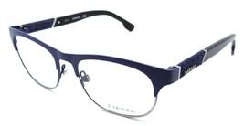 Diesel Rx Eyeglasses Frames DL5125 091 52-17-145 Matte Blue Silver / Blu... - $52.23