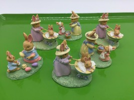 AVON FOREST FRIENDS LOT OF 6 EASTER FIGURINES SPRINGTIME BUNNY MOM & KIDS - $8.50