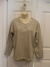 NEW IN PKG  100% COTTON LIGHT SAGE LONG SLEEVE Tee Shirt Top  SZ MEDIUM - $14.84