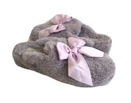Ugg Addison Wool Lavender Fog Satin Bow Shearling Slipper Us 10 / Eu 41 / Uk 8.5 - $83.22