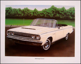 1965 Dodge Coronet Convertible 500 Print Lithograph - $17.80