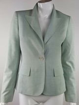 Anne Klein Womens Size 2 Light Blue / Gray Button Up Career Blazer Lined - $13.09