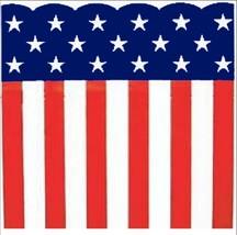 """Patriotic Heavy Plastic Bunting Roll 29"""" X 150' Stars & Stripes Print - $33.61"""