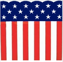 "Patriotic Heavy Plastic Bunting Roll 29"" X 150' Stars & Stripes Print - €29,51 EUR"