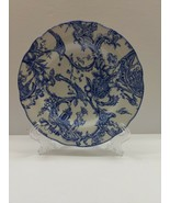 "SPODE COLONIAL WILLIAMSBURG ""PROVINCIAL GARDEN"" BLUE BREAD & BUTTER - $15.79"