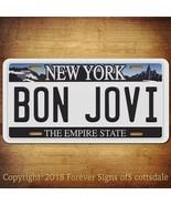 Bon Jovi Rock Group Band New York Aluminum Vanity License Plate - $12.82