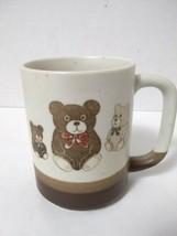 Otagiri Teddy Bear Coffee Mug Cup Stoneware With Original Stickers - $7.72