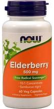 NOW Foods Elderberry -- 500 mg - 60 Veg Capsules - $17.24