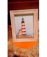 3-D Lighthouse nautical ocean shadow box Beach House Seafood Restaurant ... - $13.85