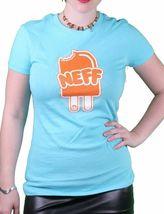 Neff Girls Womens NEFFSICLE Popsicle Ice Cream Tahiti Blue or Black T-Shirt NWT image 5