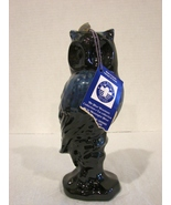 Vintage Blue Mountain Blue Owl with Tag Figurine Pottery Ceramic Red Cla... - $40.00