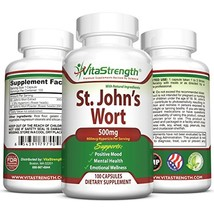 St. John's Wort - 500mg x 100 Capsules - Saint Johns Wort Extract for Mo... - $14.17