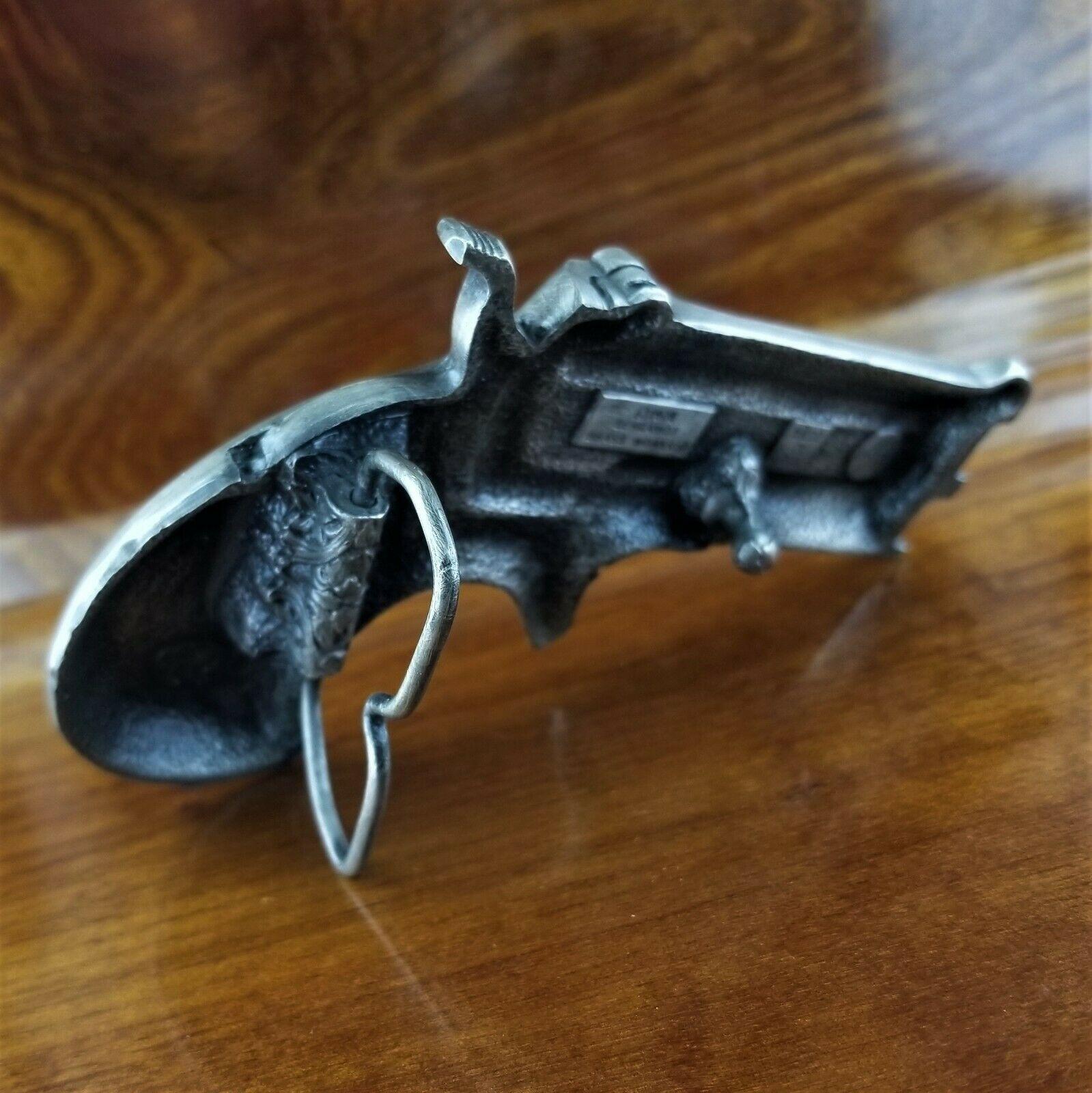 Vintage 1978 Bergamot Brass Works F-156 Derringer Hand Gun Pistol Belt Buckle image 2
