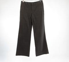 Dark brown black houndstooth cotton blend GAP wide leg dress pants 2 Long - $19.99