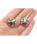 SWANK 925 Sterling Silver - Vintage Spiral Detailed Round Cuff Links - T... - $48.24