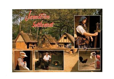 POSTCARD-JAMESTOWN SETTLEMENT- THE SETTLEMENT OF JAMESTOWN-FIRST DAY  ISSUE BK10