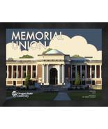 "Oregon State University ""Memorial Hall"" 13 x 16 Art Deco Framed Print  - $39.95"