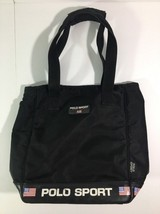 Vintage Polo Sport Ralph Lauren Black Bag Purse Spell Out - $27.81