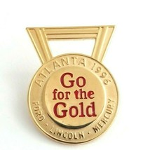 Atlanta1996 Olympics Go For The Gold Ford Lincoln Mercury Olympic Pin Ad... - $15.60