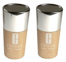 2 pc LOT CLINIQUE Foundation 19 Clove & 20 Sienna Even Better Evens & Co... - $20.44