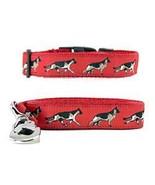 German Shepherd Dog Breed Dog Collar and Leash Set (Red) - $50.44