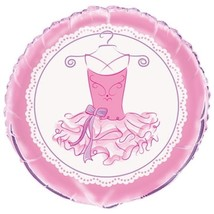 "Pink Ballerina Foil 18"" Balloon Birthday Party Dance Recital - $2.84"