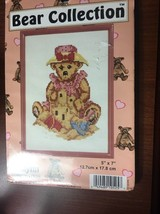 Janlynn Girl Bear with Sand Castle Counted Cross Stitch Kit With Frame - $4.40