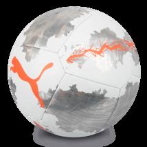 Puma Spin Training Ball Soccer Football White/Silver/Orange 08340601 Size 5 - $45.99