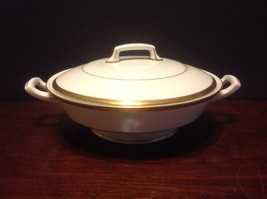 """1963 Royal Worcester """"Coventry"""" Gold Encrusted Round Covered Vegetable Dish - $230.00"""