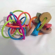 Manhattan Toy Winkle Rattle Infantino Wood Teether Infant Baby Toy Quali... - $16.00