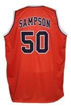Ralph Sampson #50 Custom College Basketball Jersey New Sewn Orange Any Size image 2