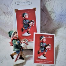 Hobby Horse Christmas Ornament Child Chalkware Giddy Up  - $9.89