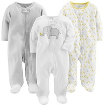 Simple Joys by Carter's Baby 3-Pack Neutral Sleep and Play, Elephant, St... - $37.55