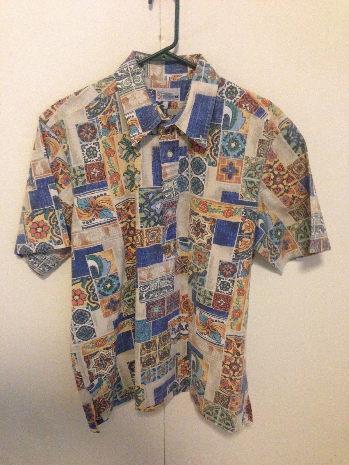 cfdbd6cc4 S l1600. S l1600. Previous. Reyn Spooner Hula Hawaiian Traditionals Mens XL  Shirt tile pattern