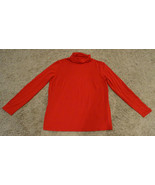 NEW $348 LAFAYETTE 148 RED STRETCH TURTLENECK LONG SLEEVE TOP SWEATER PL... - $49.99