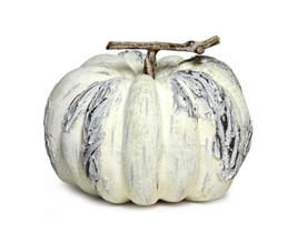"Melrose 5"" Autumn Harvest Weathered Yellow Gray Pumpkin Thanksgiving Tab... - £12.11 GBP"