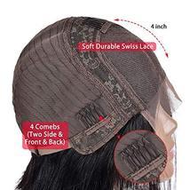 Simei Short Bob Wigs Human Hair Lace Front Wigs For Black Women Brazilian Virgin image 8