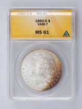 1880-S $1 Silver Morgan Dollar Graded by ANACS as MS61 VAM-7 - $148.50