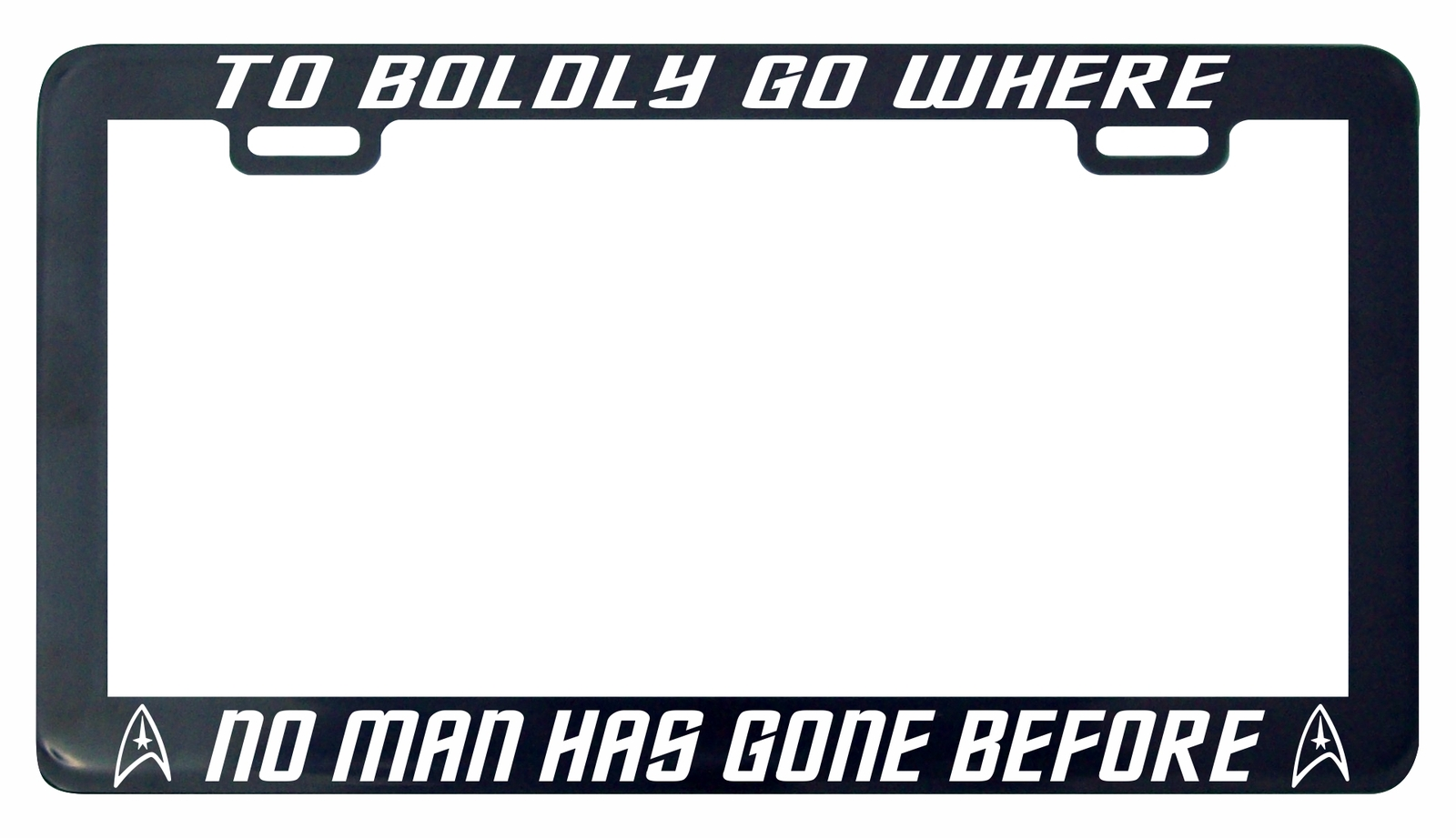 Primary image for Trek Trekkie To boldly go where no man has gone before license plate frame tag