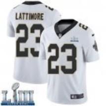 Men's New Orleans Saints #23 Marshon Lattimore Road White Super Bowl LII... - $54.99