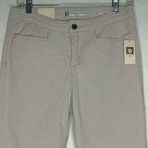 Ann Klein Jeans Slim Capri Womens 6 Stretch Oyster Beige High Rise - $18.70