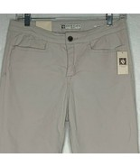 Ann Klein Jeans Slim Capri Womens 6 Stretch Oyster Beige High Rise - $18.70