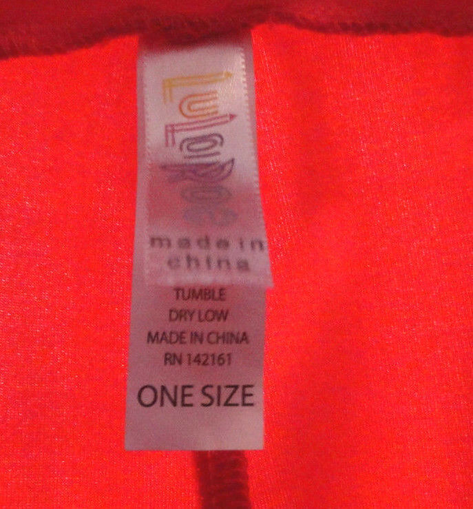 LuLaRoe One Size OS Leggings Solid Orange / Red  (Worn 1x) image 3